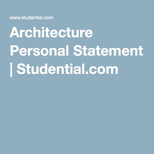 See the Best Example of Architecture Personal Statement   Personal     xic creative writing workshop