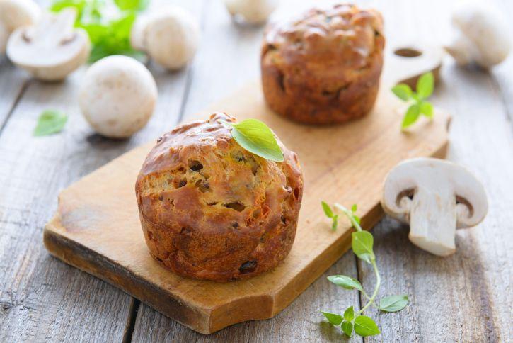 Muffin salati funghi prosciutto cotto