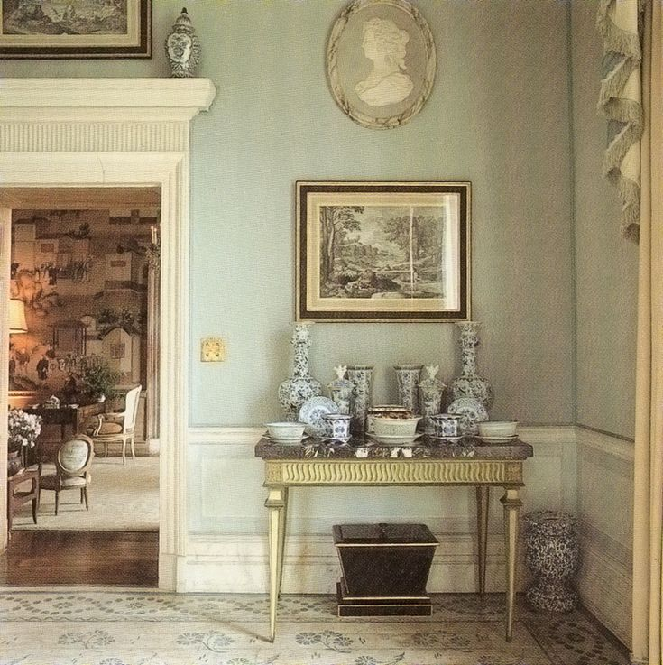 Easton Gray House in Wiltshire decorated by Tom Parr of Colefax & Fowler.