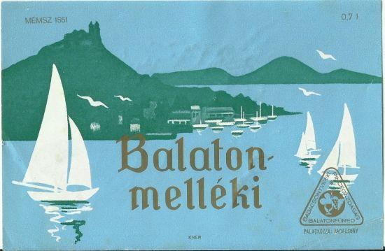 Original wine label hungary 1970 balaton