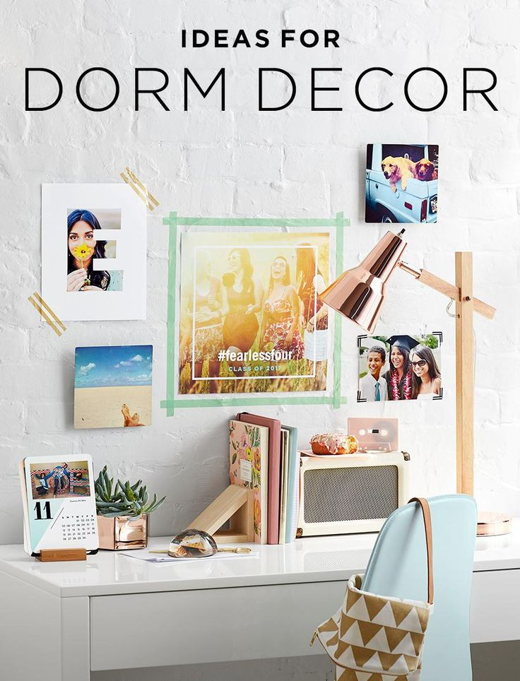 Moving to college and beginning a new life away from home is when you get to make your living spaceyours. If your bare walls are staring at you, take a look at these 100 dorm room decorating ideas to help inspire and ignite your creative process.