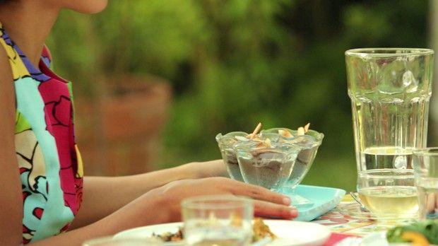 Mousse gelada de Aa com Banana da Bela Gil para o Bela Cozinha Ep energizantes (Foto: Divulgao)