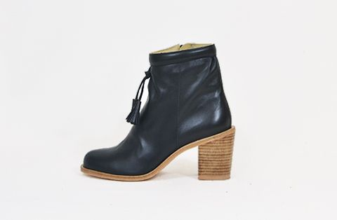 &Attorney Smyth Boot in Black Leather