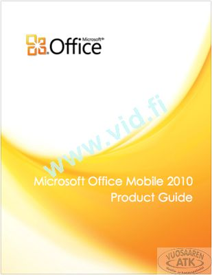 Microsoft Office Mobile 2010 Product Guide