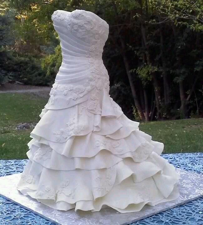 17 best ideas about Wedding Dress Cake on Pinterest Dress cake