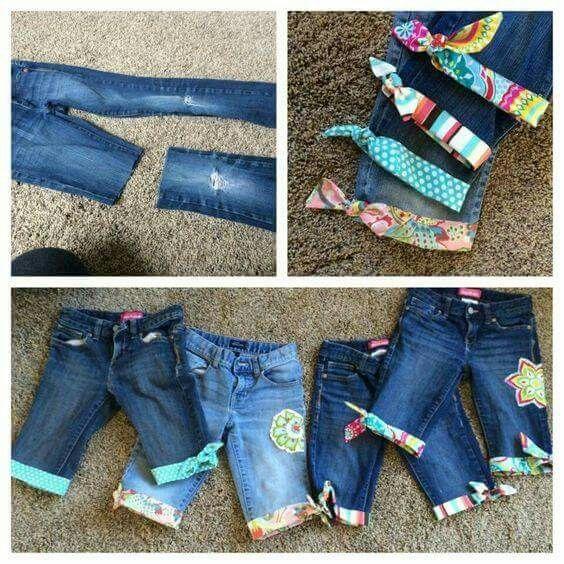 Jeans kürzen und pimpen