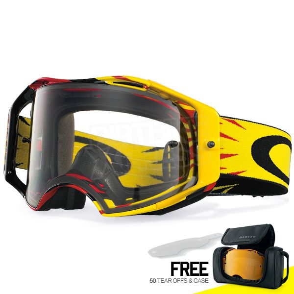 Oakley Airbrake MX Goggles - High Voltage Red Yellow