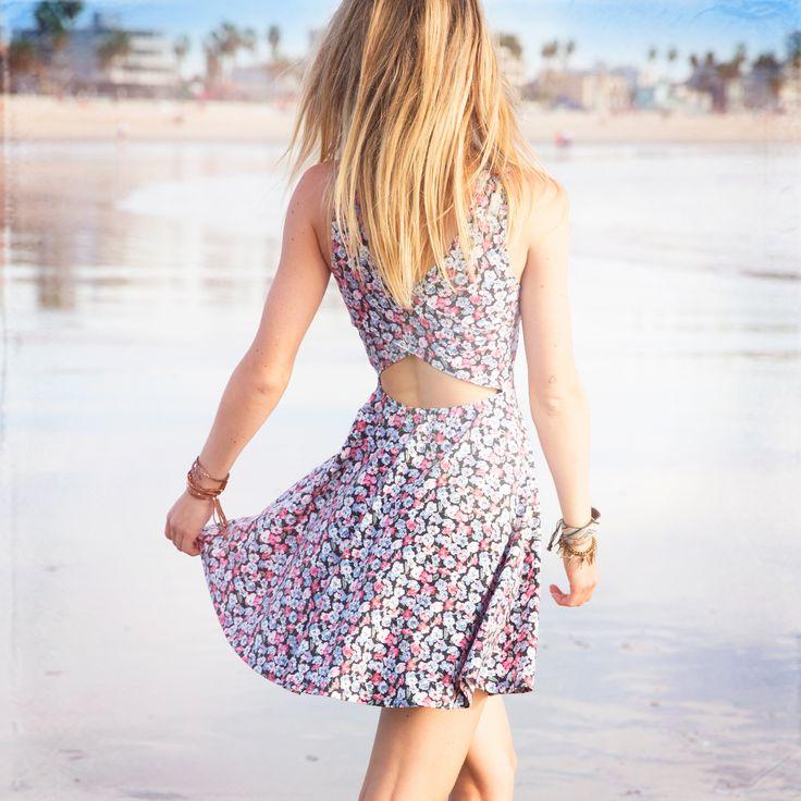 Floral Knit Skater Dress #HCoStyle #EndlessDresses