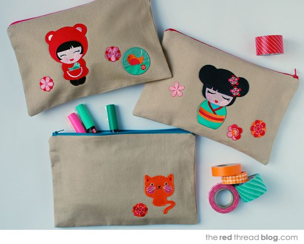 Hello Tokyo by the red thread pouches