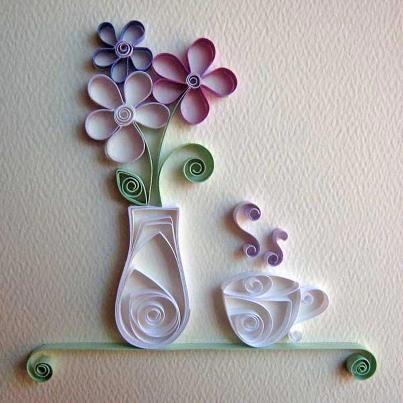 Fitas de papel e muita criatividade: lindos desenhos na parede.