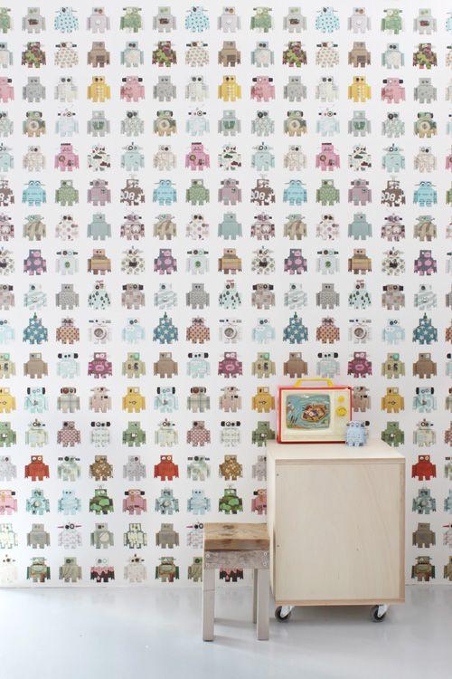 robot wallpaper - by Studio Ditte