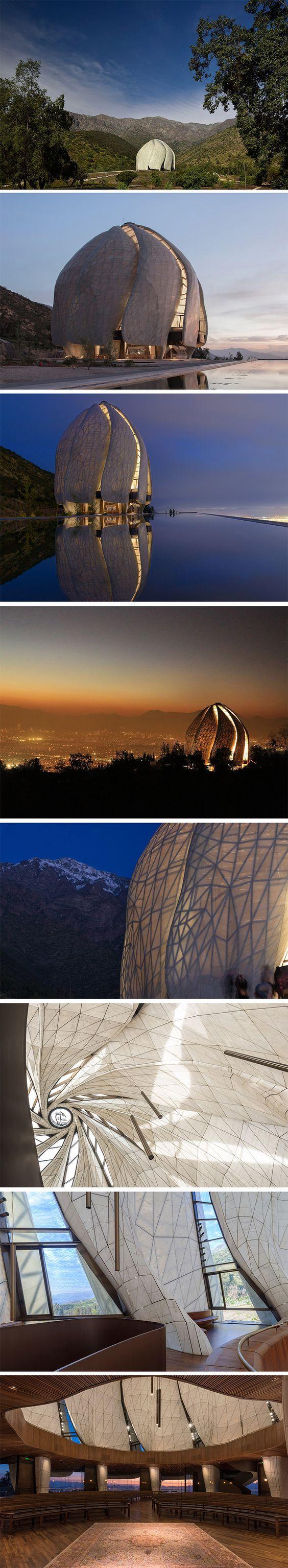 Casa de Adoração Bahá'í da América do Sul-Santiago- Chile. Siamak Hariri http://templo.bahai.cl/pb/templo-y-comunidad/arquitectura/
