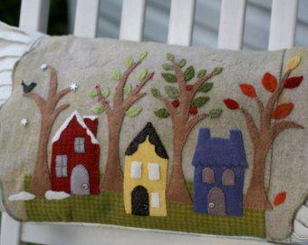 wool applique kits | Seasons Wool Applique Pillow Kit (F rom Savor The Seasons Pattern Book ...