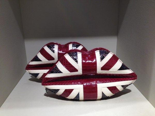 Lulu Guinness #clutch #lips #british #style #FolliFollie #collection