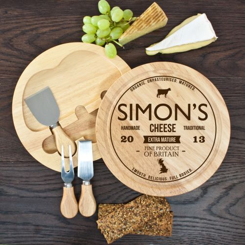 Personalised Traditional Brand Cheese Board Set - yourgifthouse