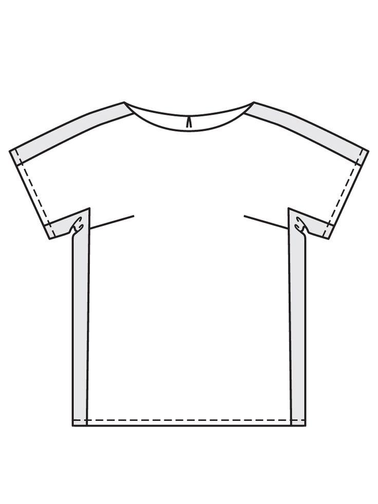 Блузка с цельнокроеными рукавами - выкройка № 123 A из журнала 6/2017 Burda – выкройки блузок на Burdastyle.ru