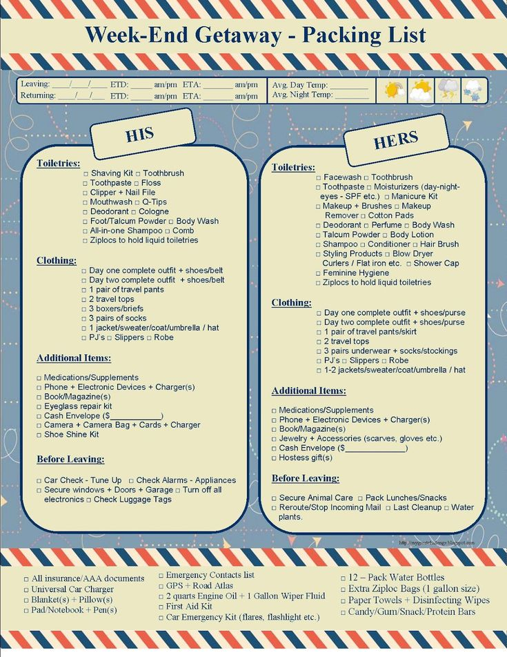 free printable packing list for disney cruises