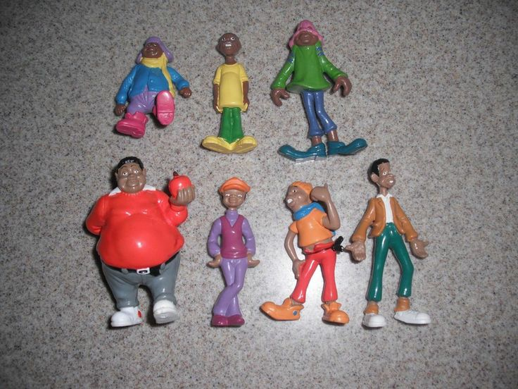 Kids Toys Action Figure: Complete Set 7 Piece Set FAT ALBERT And GANG Action