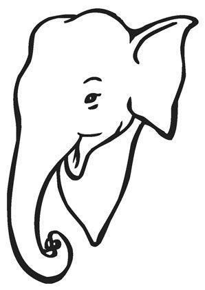 ausmalbild elefant mit halstuch zum ausmalen. #