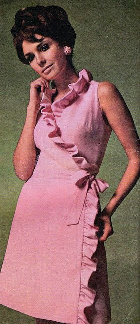 LOL I made this dress when I was first married.  It was almost the same pink.  Jennifer O'Neill wearing Givenchy, 1968