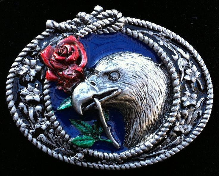 Western Cowboy Eagle Rose Knot Rope Indian Belt Buckles