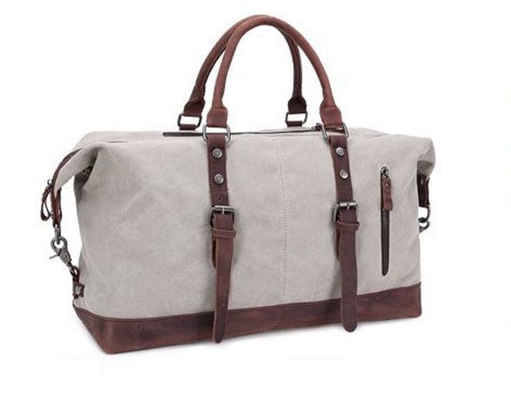 Men's luxury canvas holdall bag! Great for travel, weekend breaks or the gym!
