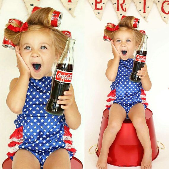 Baby 4th Of July Romper // July 4th Outfit // by AdalynsBoutique