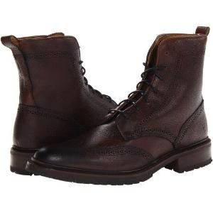 Frye James Lug Wingtip inicialização (Dark Brown Scotch Grain 2) Lace up botas masculinas melhores ofertas.  A melhor qualidade de Frye James Lug Wingtip inicialização (Dark Brown Scotch Grain 2) Lace-up botas masculinas $ 328,00 por somoflove