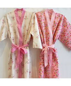 Left to Right: Mia & Alice Pink Bathrobe