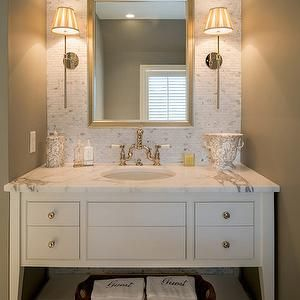 Photo Album Gallery Archer Buchanan Architecture bathrooms white sink vanity white vanity with shelf sink
