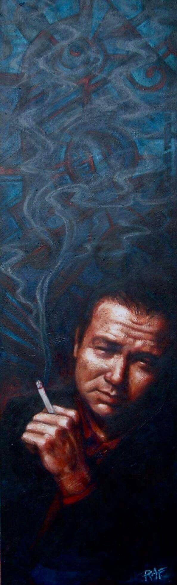 Bill Hicks. Oil on canvas