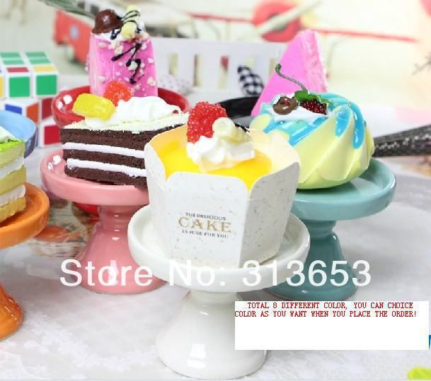 new arrival  mini  ceramic Cake pan /cake stand  wedding dessert plate/cupcake stand(7.4x6cm) free shipping-in Stands from Home & Garden on ...