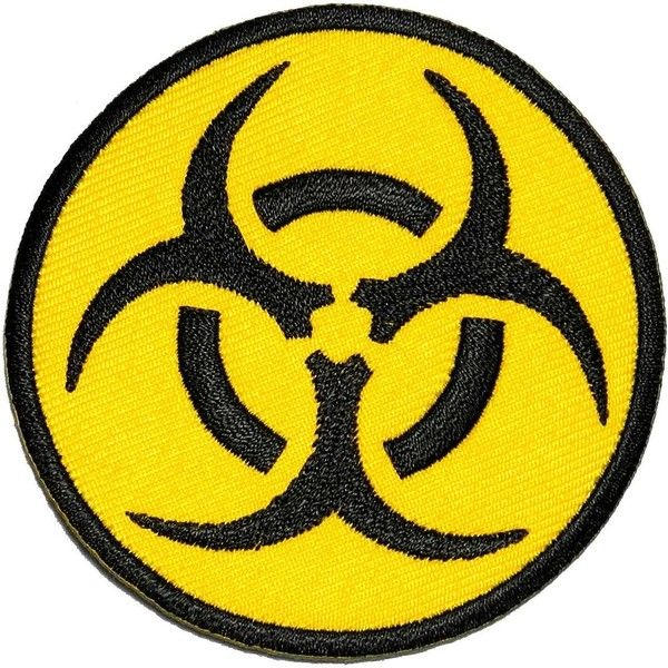 Amazon.com: Biological Hazard Biohazard Symbol DIY Applique... ($5.99) ❤ liked on Polyvore featuring patches