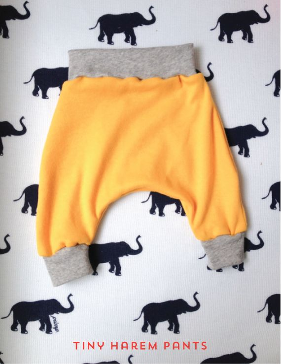 Soooooo cute!!! Easy to size up for an older baby/child.  The Alison Show: Tiny Harem Pants Sewing Pattern
