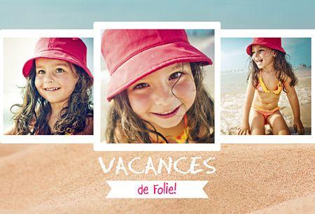 Carte postale personnalisée vacances