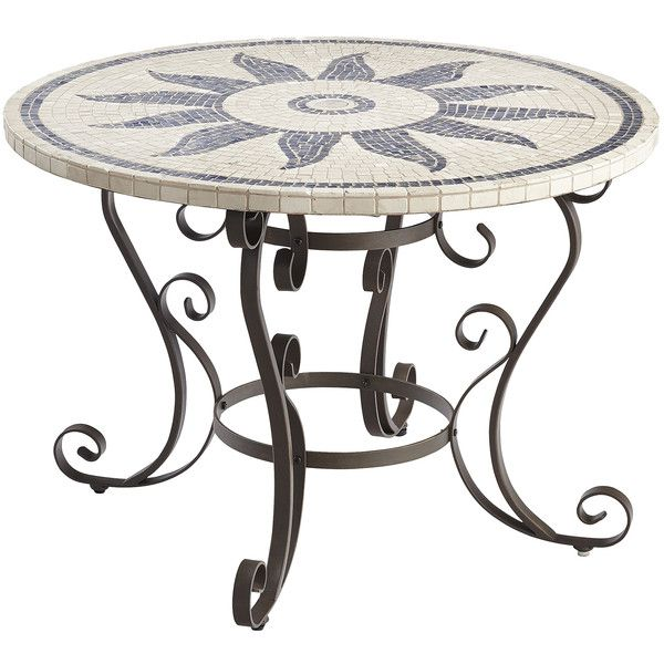 Pier 1 Imports Multi-colored Esenia Mosaic Round Dining Table (1.978.010 COP) ❤ liked on Polyvore featuring home, outdoors, patio furniture, outdoor tables, multicolor, outdoor patio furniture, outdoor garden table, pier 1 imports, mosaic outdoor furniture and mosaic patio table