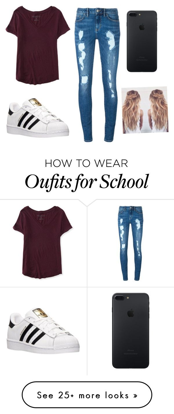 """School"" by kaylastagg on Polyvore featuring Aéropostale, Tommy Hilfiger and adidas"