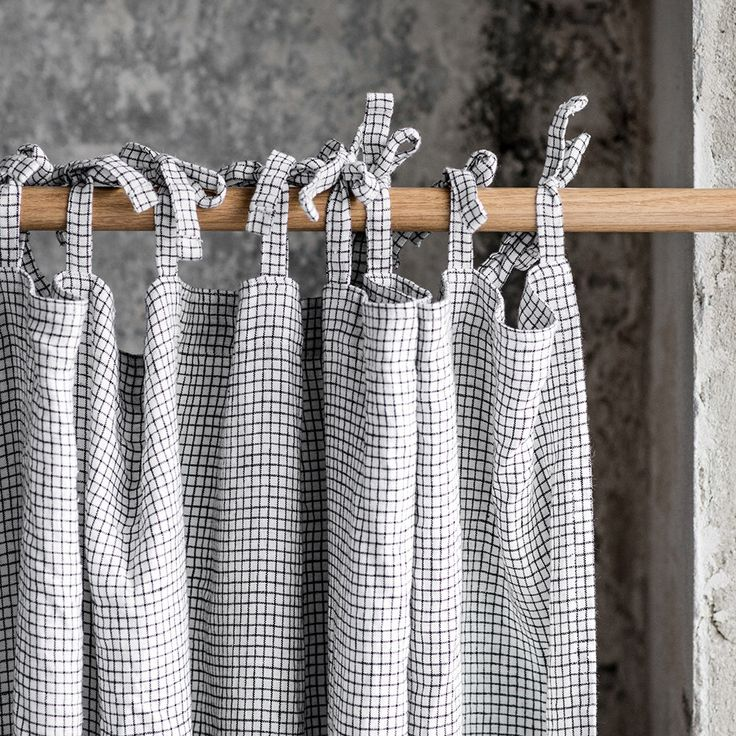 Small checks. Washed linen curtain/drape for relaxed look by notPERFECTLINEN on Etsy https://www.etsy.com/listing/480139701/small-checks-washed-linen-curtaindrape