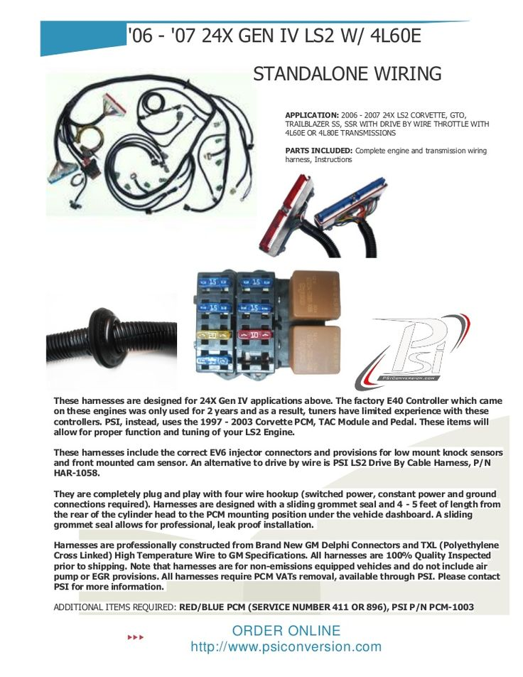 Psi Wire Harness Ls Conversion Wiring Harness Wiring Diagrams