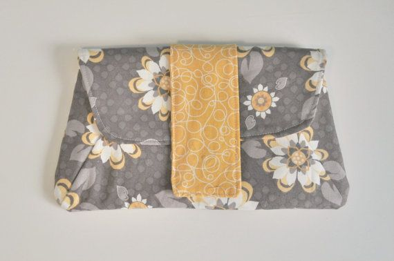 Diaper Clutch  Cotton Clutch  Small Clutch Purse  by BirdieAndDot, $25.00