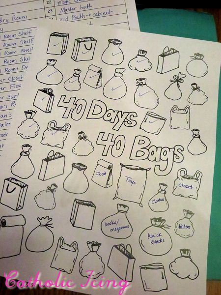40 days 40 bags printable for lent