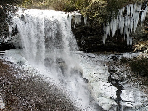 "(frozen) Dry Falls  you can walk behind the falls (when not icy) :) really neat place to go to; one of my ""power places"" [Dry Falls, Hwy 64 between Franklin and Highlands, NC]: Favorite Places, Dry Fall, H2O Fall, Highlanders North Carolina, Power Places, Places I D, Highlanders Nc, Places To Go, Neat Places"