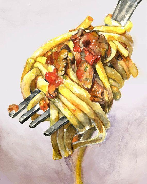 Spaghetti impression, 8,5 x 11