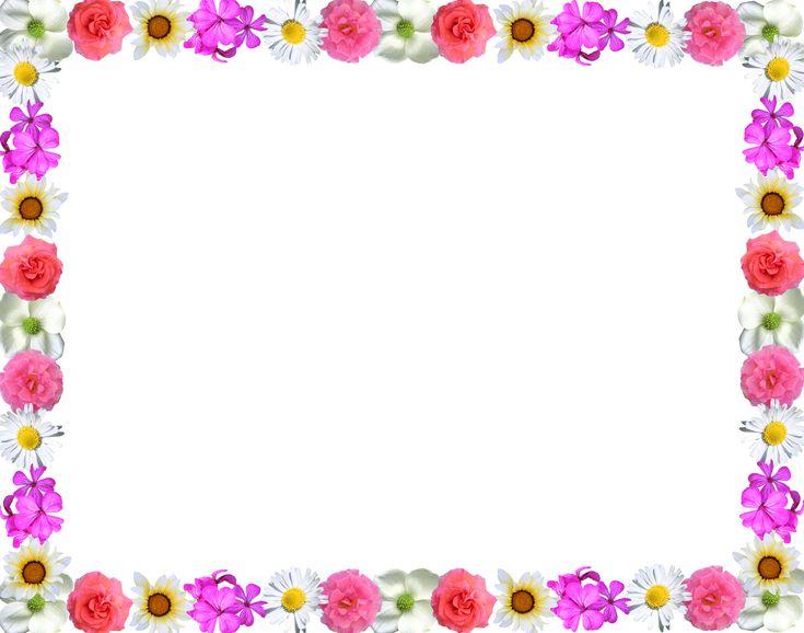 Stylish Flowers Red Purple Green Border Design HD 2016