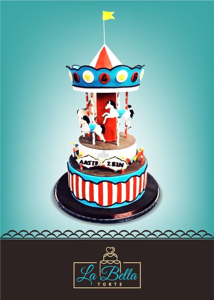 Carousel cake for my nephews. Visit FB page La Bella Torte