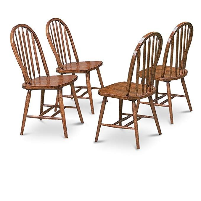 4 Dark Oak Stain Kitchen Dining Arrow Back Chairs Set Review Oak