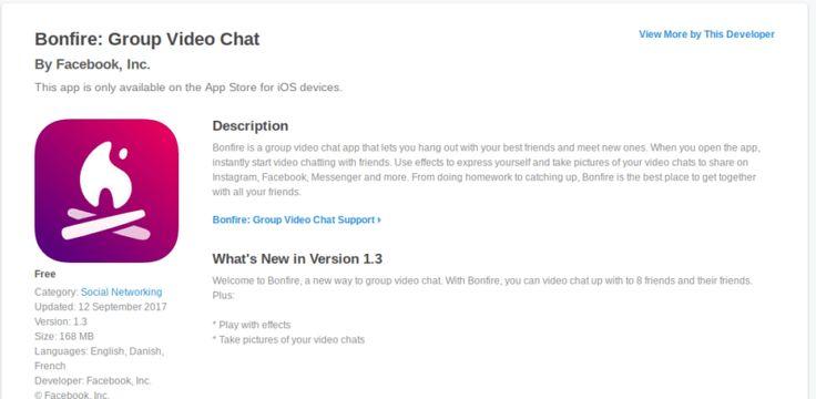 Cómo descargar Facebook inédito Hoguera video chat app hoy