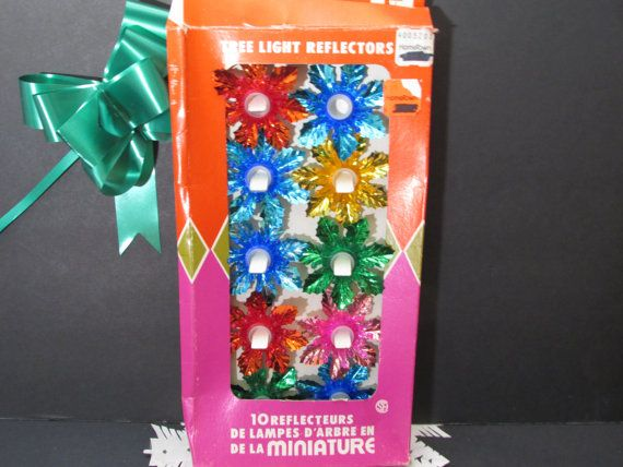 1970s foil snowflake christmas light reflectors by flashbackfinds - Reflector Christmas Lights