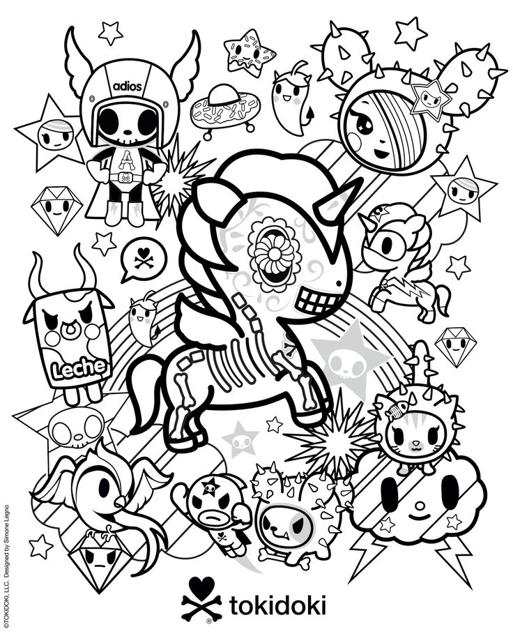 tokidoki colouring page  coloring  coloring pages color
