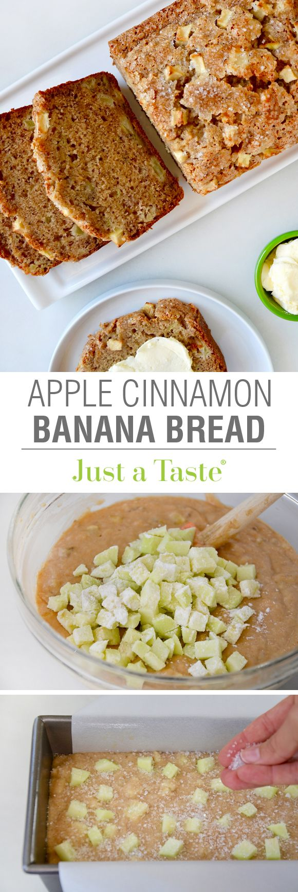 Apple Cinnamon Banana Bread #used dad's cherry lady apples from the garden                                                                                                                                                     More